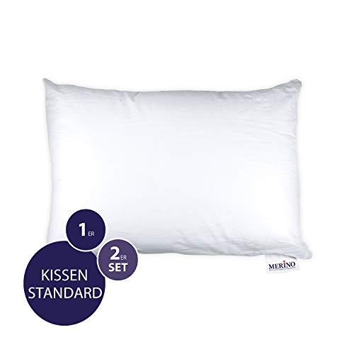 MERINO BETTEN Premium Kopfkissen 50x60 | Couchkissen | Kissenhülle versteppt ohne Reißverschluss | Serie Standard