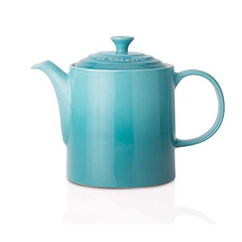 Le Creuset Klassische Teekanne, Rund, 1,3 Liter, Steinzeug, Karibik