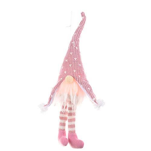 Decoración de árbol de Navidad linda creativa muñeca de punto sin rostro para decoraciones de Navidad, fiesta de Navidad decoración de mesa