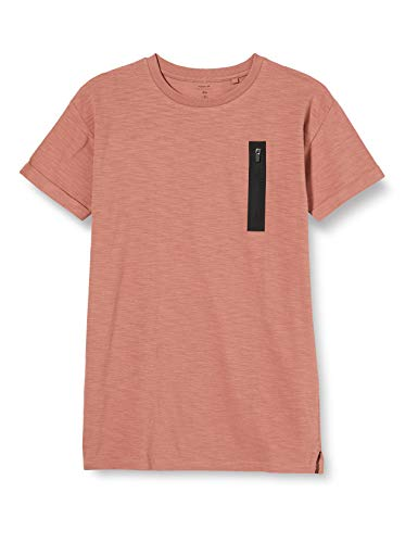 NAME IT Jungen NKMFREO SS Boxy TOP T-Shirt, Burlwood, 134-140
