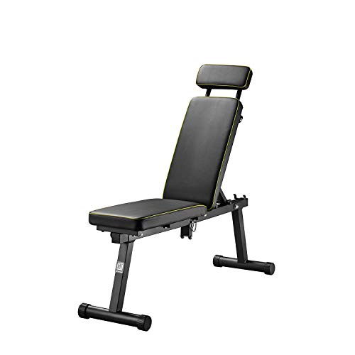 ZENOVA Adjustable Weight Bench Foldabel, Strength Training Bench for Full Body Workout, Incline/Flat Exercise Bench