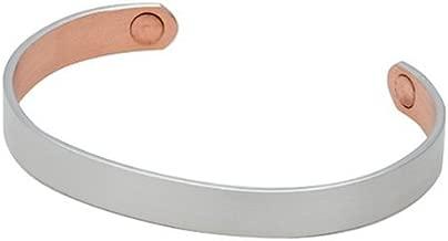 Sabona Brushed Silver Original Copper Magnetic Bracelet, Size XL