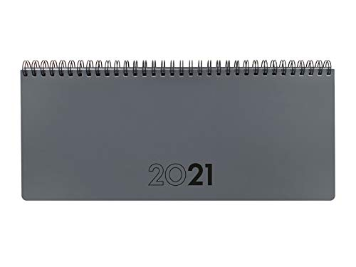 Finocam - Planificador Agenda 2021 Semana vista + notas Gris Catalán - 290 x 120 mm
