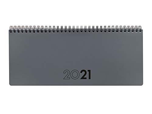 Finocam 625515021 - Planificador Agenda 2021 Semana vista + notas Gris Español, Sobremesa - 290x116 mm
