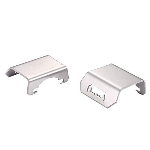 Heinside 2 piezas de acero inoxidable delantero trasero placa de bisel inferior para mando a distancia Axial SCX10 juguetes de reemplazo de accesorios más fuertes (color: plata)