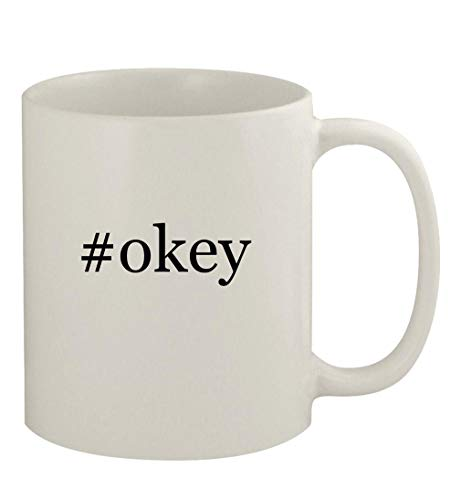 #okey - 11oz Ceramic White Coffee Mug, White
