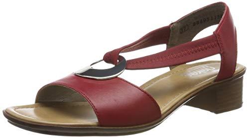 Rieker Damen 62662-33 Geschlossene Sandalen, Rot (Rosso/Rosso 33), 39 EU