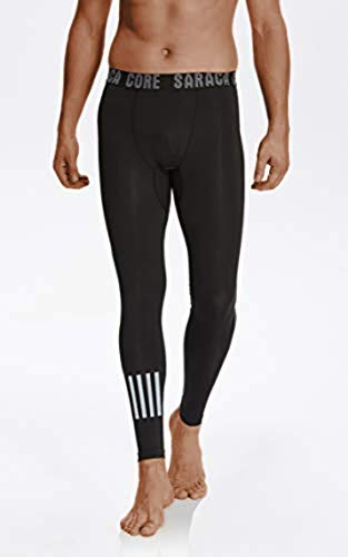 saracacore Männer Herren Unterhose Laufhose Kompressions Fitness Sports Leggings Tights (Blackpatternlll, XS)
