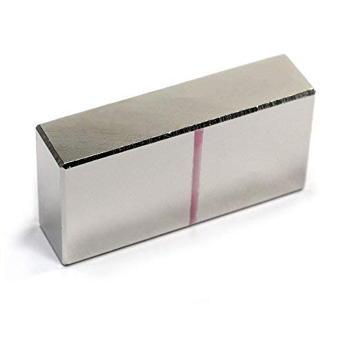 CMS Magnetics Neodymium Magnetic Blocks 2' x 1' x 1/2' N52 1 Count Bar Magnets Science Magnets Hobbies Too!