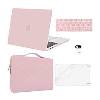 MOSISO Compatible with MacBook Pro 13 inch Case 2016-2020 Release A2338 M1 A2289 A2251 A2159 A1989 A1706 A1708 Plastic Hard Shell Case&Bag&Keyboard Skin&Webcam Cover&Screen Protector Rose Quartz