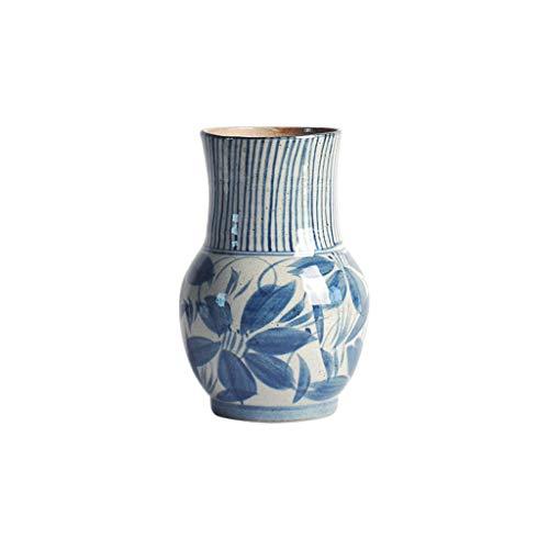 YSMLL Jarrón de cerámica Floral Maceta Pintado a Mano Retro Flor Creativa de la Sala de Estar decoración decoración secada Flor decoración