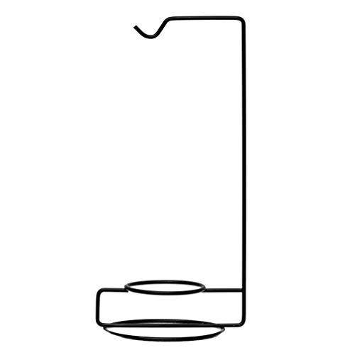 Garneck 5 Stück Halterung für Luftpflanzen, Ständer für Terrarium, Tischständer aus Metall zum Aufhängen der Glaskugel Terrarium Globus schwarz