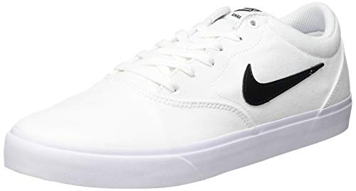 Nike Unisex SB Charge Canvas Running Shoe, White/Black-White-Gum Light Brown, 44 EU