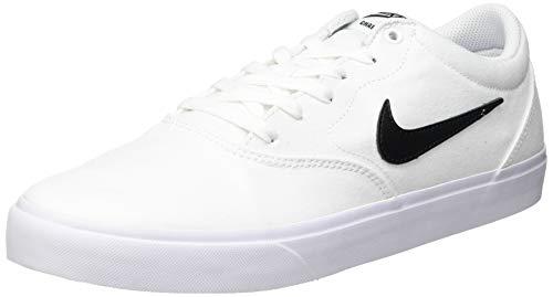 Nike SB Charge Cnvs, Scarpe da Ginnastica Unisex-Adulto, White/Black-White-Gum lt Brown, 43 EU