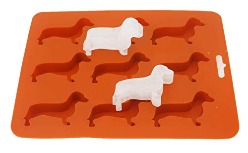 LYWUU Dachshund Dog Shaped Silicone Ice Cube Molds and Tray