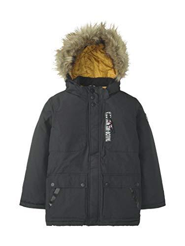 TOM TAILOR Kids Jungen 1/1 Hood Jacke, Schwarz (Caviar Black 1010), 92 (Herstellergröße: 92/98)