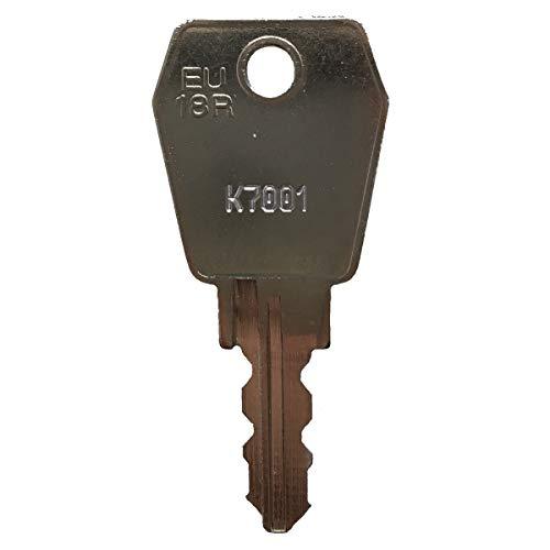 EuroLocks Ersatzschlüssel K8000 bis K8499 - für Briefkasten, Universalschlösser, Möbelschlösser, etc. von EuroLocks - Nachschlüssel, Zusatzschlüssel nach Nummer/Code - Schließung K8060