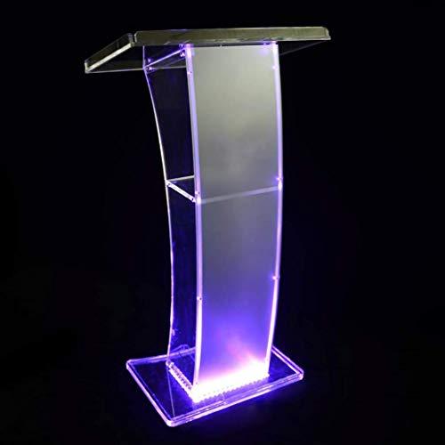 MIEMIE Atril de presentación de acrílico Transparente - Elegante diseño de metacrilato para Iglesias y escuelas Escritorio de Lectura de pie Soporte de información de menú