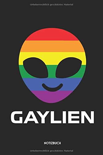 Gaylien Notizbuch: Lustiges LGBT Büchlein | Dotted Notebook / Punkteraster | 120 gepunktete Seiten | ca. A5 Format | Individuelles Journal | ... für Homosexuelle, Bisexuelle & Transgender