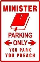 2個 大臣駐車ノベルティ説教者牧師サイン8x12インチ