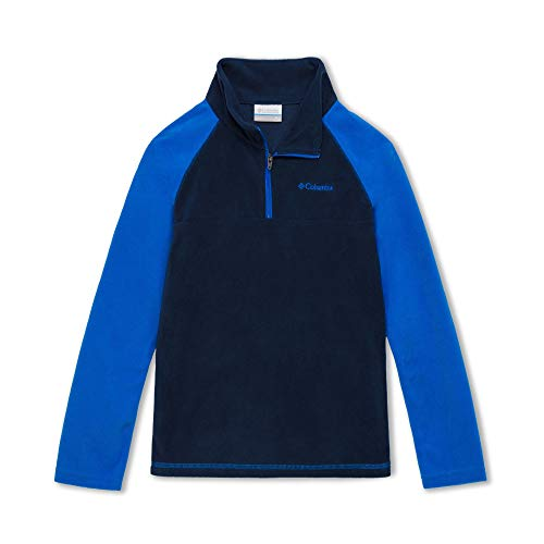 Columbia Veste Glacial Demi-Zip pour garçon - Bleu Marine - Vert émeraude - XXS
