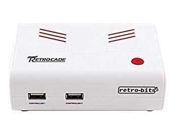 Retro-Bit Super Retro-Cade Plug and Play Game Console - Packed with Over 90 Popular Arcade and Console Titles  Red/White  Version 1.1