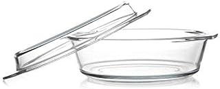 Round heatproof dish with lid 2,1L
