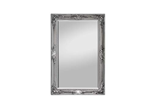 Rococo by Casa Chic - Grand Miroir Rectangulaire - Style Baroque Shabby Chic - 90x60 cm - Argent