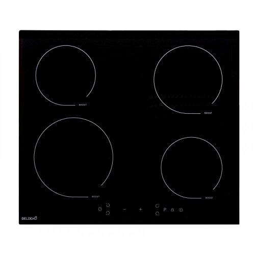 Beldeko kookplaat inductie met timer glas zwart