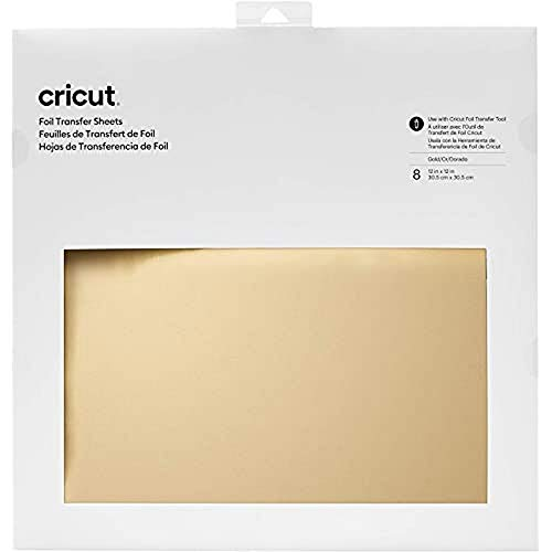 """Cricut, Gold Foil Transfer Sheets, (8 ct), 30.5 cm x 30.5 cm (12"""" x 12"""")"""
