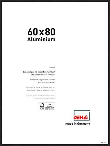 DEHA Aluminium Bilderrahmen Boston, 60x80 cm, Eloxal Schwarz Matt