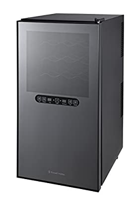 Russell Hobbs RH32DZWC1 32 Bottle Dual Zone Drinks Mini Fridge, Free 2 Year Guarantee