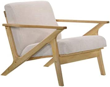 Omax Decor Accent Chair Oak Beige product image