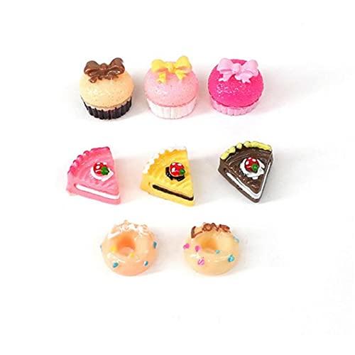 fregthf 8pcs 1/12 Mini gâteau Maison de poupées Décoration d'aliments de Jeu Food Kitchen gâteau Donuts pour Dollhouse Cuisine Décoration