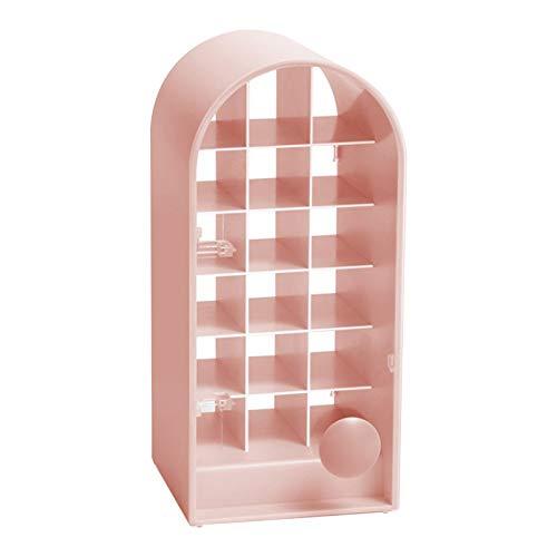 Lippenstift Aufbewahrungsbox,Make-up-Organizer, Lippenstifthalter Kunststoff Kosmetik Aufbewahrungsbox Lippenstift Displayständer 4.5x10.5cm Kosmetik-Organizer 24 Gitter