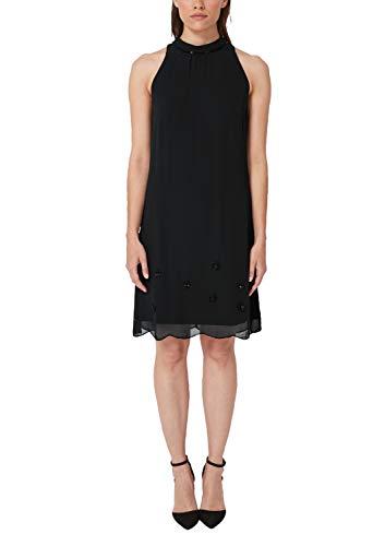 s.Oliver BLACK LABEL Damen Partykleid 70.901.82.6008, Schwarz (Black 9999), (Herstellergröße: 40)