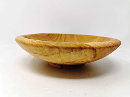 Holzschale rund aus Kirschen Holz - ∅ ca. 23,5 cm - H: ca. 6,5 cm handgemacht gedrechselt Schale Obstschale