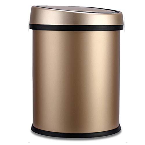 Papelera de reciclaje La basura del sensor puede TOUCHLESS bote de basura de la basura del sensor de infrarrojos sin contacto cubo de basura de acero inoxidable Papelera de alta capacidad puede Basure