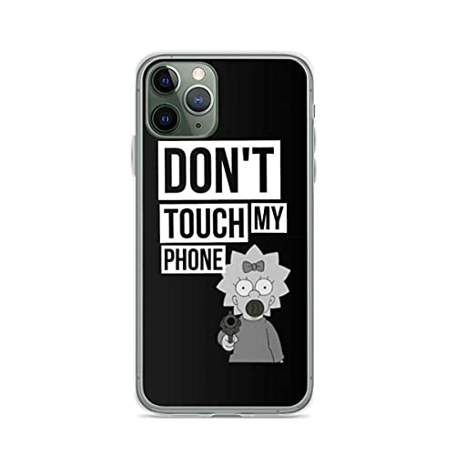 NDSXTLCA Compatible con iPhone 12 Mini 12 11 Pro MAX SE X XS MAX XR 8 7 6 6s Plus Funda The Simpsons Dont Touch My Phone Lisa Pure Clear Cajas del Teléfono Cover