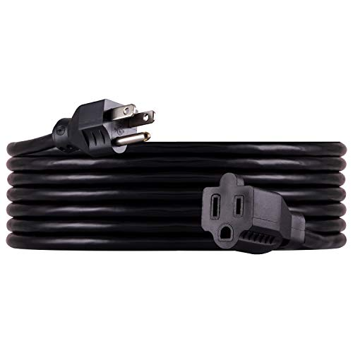 UltraPro, Black, GE 15 ft Extension, Heavy Duty, Double Insulated Cord, Indoor/Outdoor, UL Listed, 36824