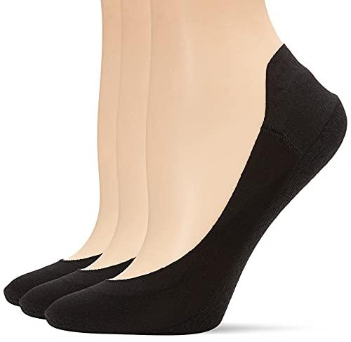 Hue Women s Hidden Cotton Perfect Edge Liner Sock with Gel Tab Sockshosiery, -black, One Size