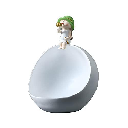 KLFD Nordic Bubble Adornos De Almacenamiento para Niños Bandeja De Resina Entrada De Almacenamiento De Joyas Tazón De Llaves Mesa Bocadillos Bandeja De Dulces Contenedor De Almacenamiento,Verde