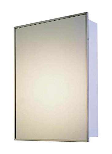 "Ketcham Cabinets Deluxe Series Recessed Medicine Cabinet Stainless Steel Framed 18""X24"""