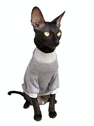 Kotomoda Katzen Kleidung Baumwollpullover Trautes Heim, Glück allein. (S)