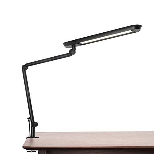 Schreibtischlampe, AmazLit LED Schreibtischlampe 1200 Lumen mit Klemme Schwenkarm-Architektenlampe 18W Hohe Helligkeit Keine Blendung Augenschutz Bürolampe Mehrfachbeleuchtung/Funktion
