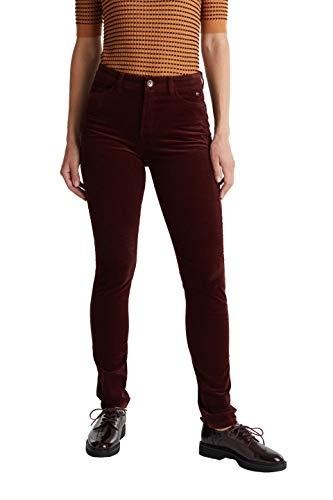 ESPRIT Damen 099Ee1B018 Hose, Rot (Bordeaux Red 600), W/L30(Herstellergröße:40/30)