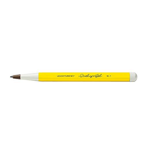 LEUCHTTURM1917 362452 Drehgriffel Nr. 1, Zitrone, Kugelschreiber mit königsblauer Tinte