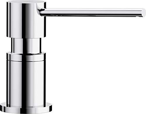 BLANCO LATO - Einbau Spülmittelspender für die Küchenspüle - leichte Befüllung von oben - 500 mL Behälter - Chrom - 525808
