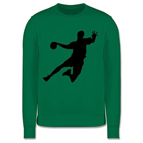 Sport Kind - Handballer - 128 (7/8 Jahre) - Grün - Pullover - JH030K - Kinder Pullover