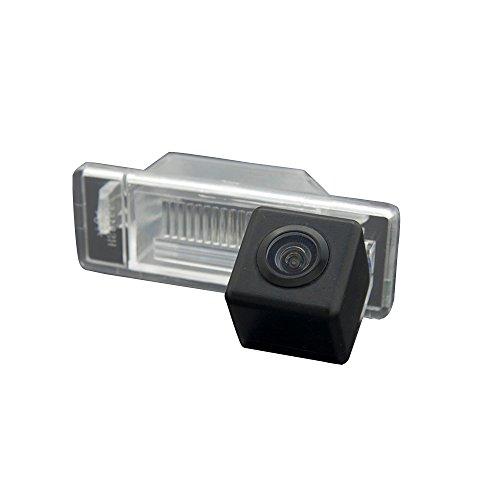 Navinio Nachtsicht Rückfahrkamera Einparkkamera Kamera Einparkhilfe Farbkamera Rückfahrsystem für Auto Peugeot 307 307 CC Citroen Quatre & Triomphe C4 C5/Nissan Qashqai/X-Trail